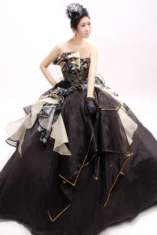 結婚式 お色直し ドレス 黒