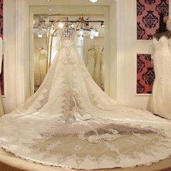 画像1: LJ高品質ミカドシルク#オーダーメイド本命ウェディングドレス#すっごい豪華のロングトレーン100万円の輝き〜