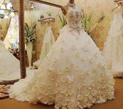 画像1: 新作 LJブライダル 花嫁 ロイヤルウェディング 結婚式 挙式 本命ドレス衣装サイズオーダー無料 海外ウエディング 前撮 貸し衣装よりお得
